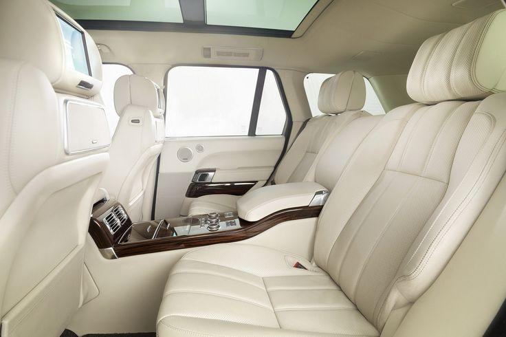 Inside my White Range Rover that I want..