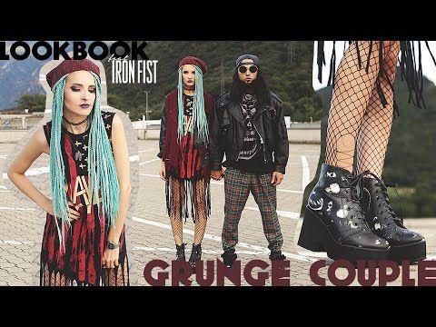GRUNGE COUPLE || LOOKBOOK by VINTAGEENA - YouTube