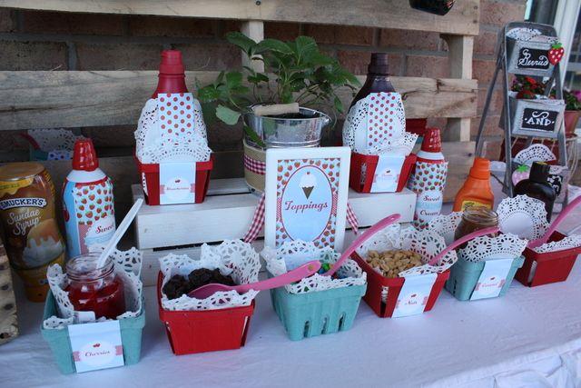 "Photo 49 of 53: Strawberries and Cream, Ice Cream / Summer ""Strawberries and Cream Neighborhood Ice Cream Social"""
