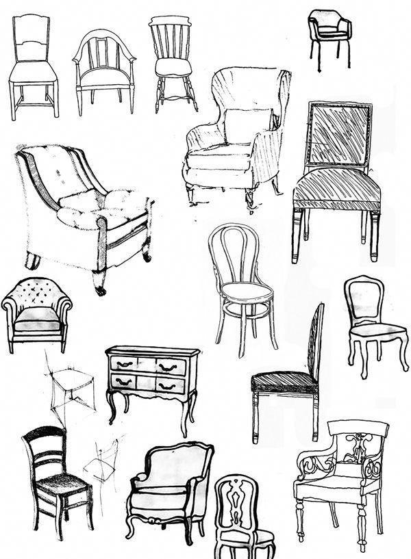 Beautiful Chair In Front Of Fireplace Chairinfrontoffireplace Eskiz Interera Eskizy Interernyh Dizajnov Eskiz