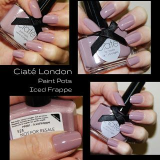 MichelaIsMyName: NOTD // Ciaté London Paint Pots Iced Frappe