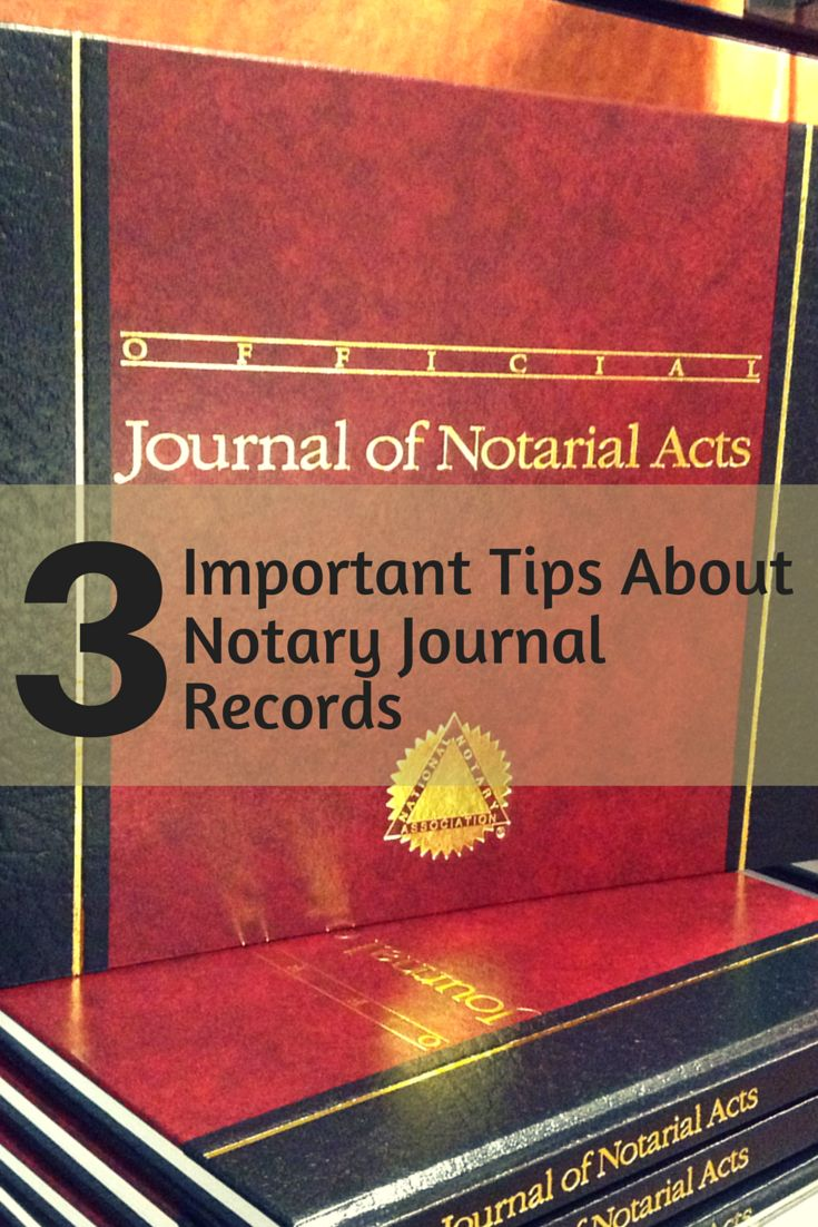 Your Notary journal contains a lot of valuable information. Make sure you are protecting it properly when asked for copies.