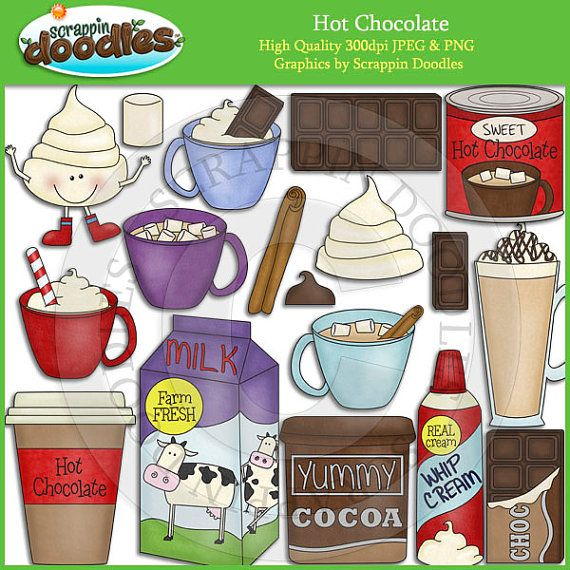 Hot Chocolate Clipart by ScrappinDoodles