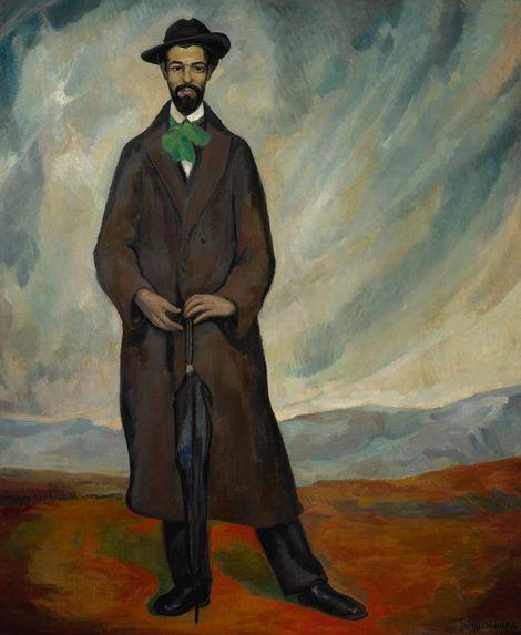 Diego Rivera, Portrait of a Spaniard - 1912 on ArtStack #diego-rivera #art