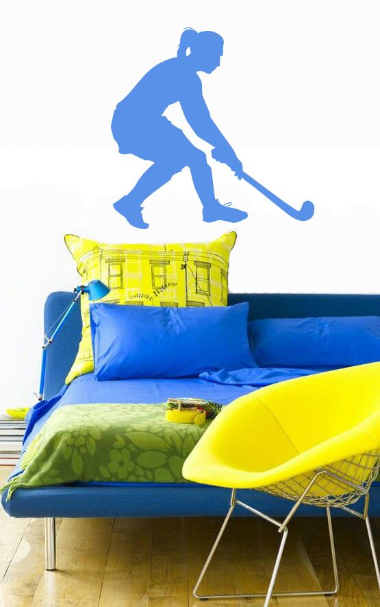 Muursticker - Interieursticker Sport Hockey Meisje 1Muursticker erg leuk als men fan is van Hockey.Meer informatie over onze muurstickers vind uhier
