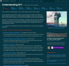 An Archive of 3000 hours of September 11th media coverage :(