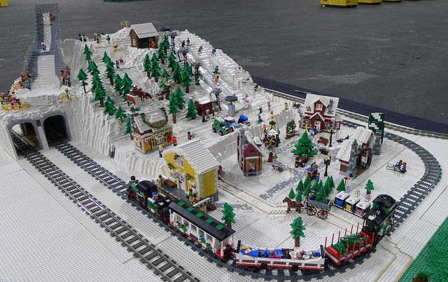 Ultimate Winter Ski Village in LEGO
