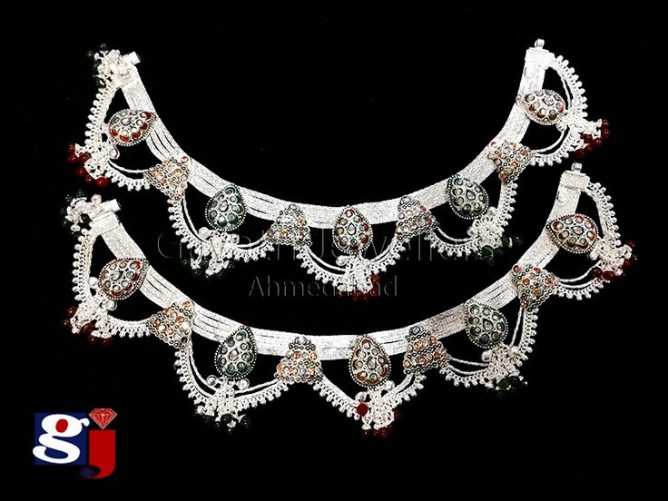 Dulhan payal design , Indian traditional silver ornament , wedding jewellery , #gj design ,
