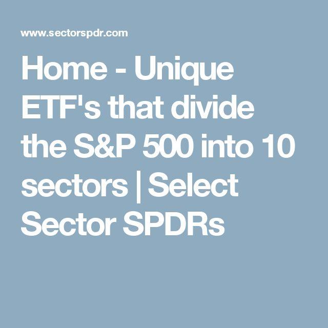 Home - Unique ETF's that divide the S&P 500 into 10 sectors | Select Sector SPDRs