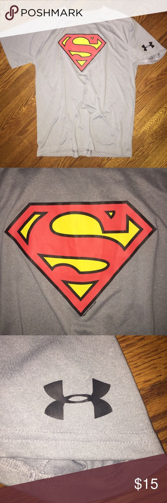 Boys' Under Armour Superman shirt...Size XL Boys' Under Armour Superman shirt...grey in color with Superman logo on front and Under Armour logo on sleeve...Size XL in excellent condition from a smoke free home! Under Armour Shirts & Tops Tees - Short Sleeve