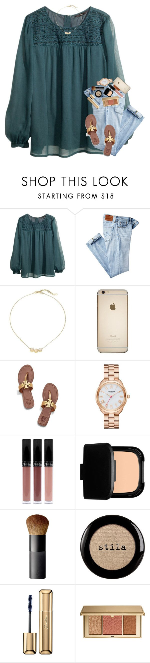"""""""pretty ☺️☺️☺️"""" by mehanahan ❤ liked on Polyvore featuring H&M, AG Adriano Goldschmied, Cole Haan, Tory Burch, Kate Spade, NARS Cosmetics, Stila, Guerlain and Estée Lauder"""