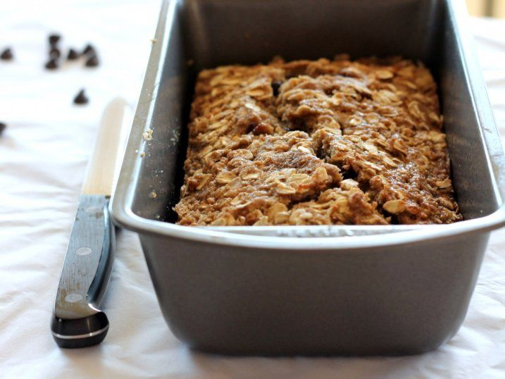 Vegan & Gluten-Free Chocolate Chip Oatmeal Banana Bread. i did this ...