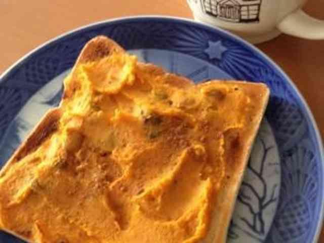 かぼちゃの煮物リメイク◎クリームトーストの画像