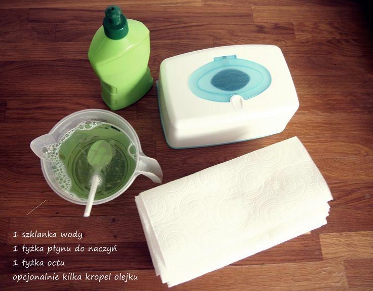 Mokre chusteczki do sprzątania - DIY