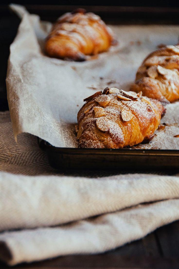 Almond & Raspberry Croissants via Hint of Vanilla