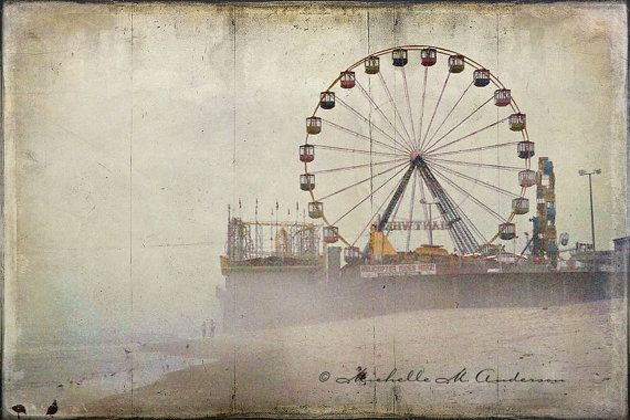 Today's Pin, July 26, is by Michelle Anderson of The Camera's Eye. Please Repin!  Childhood Revisited   Seaside Heights NJ Pier   fine art photograph  select your size roller coaster boardwalk jersey shore