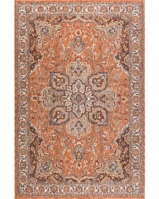 Find the Best New Year's Savings on Finley Traditional Oriental Spice Rectangle Area Rug, 8' x 10'