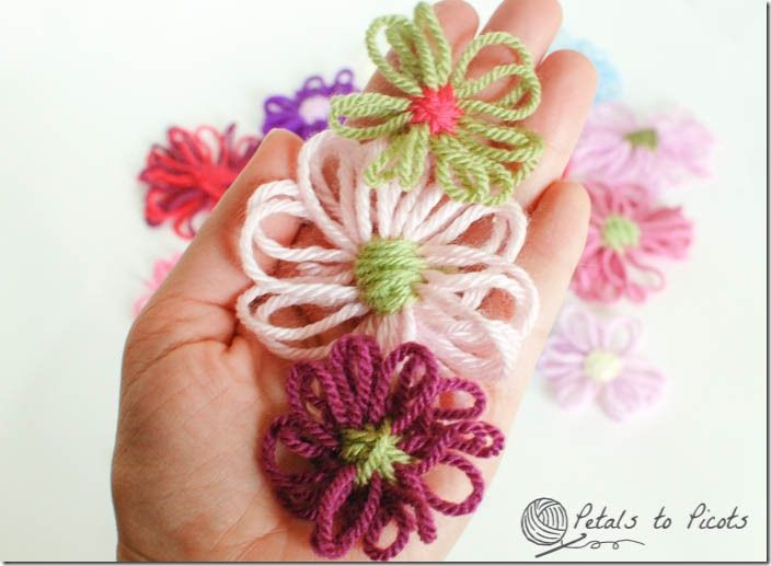 Loom Flowers Tutorial... shows how to make your own loom ~ Petals to Picots