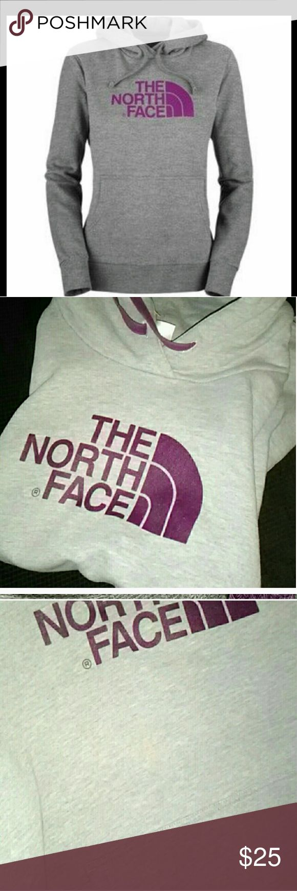 The North Face Women's Large Pullover Sweatshirt Size large Long sleeve Purple and gray A light almost unnoticeable at all spot on it No other wear  Ships quick Bundle and save The North Face Tops Sweatshirts & Hoodies