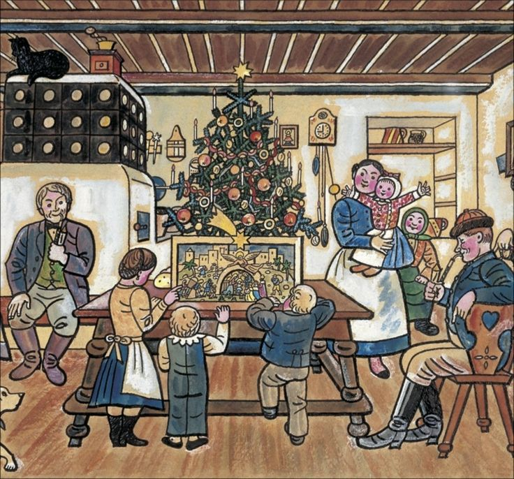 Josef Lada. A Czech Christmas - I've just saw such a calender :)