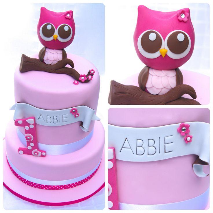 Pink Owl 1st Birthday