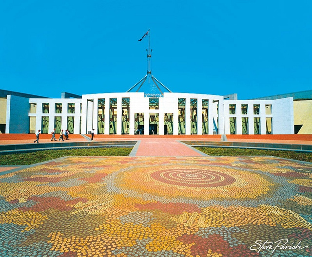 Parliament House, Canberra, Australian Capital Territory by steveparish, via Flickr