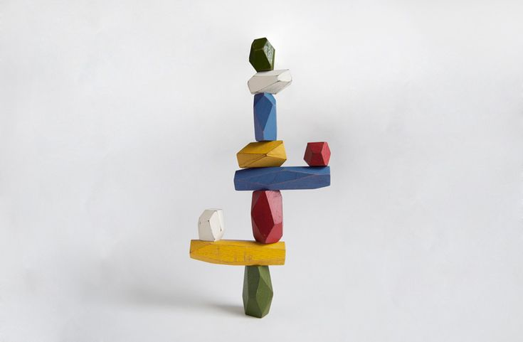 fun for all ages- handmade balancing blocks