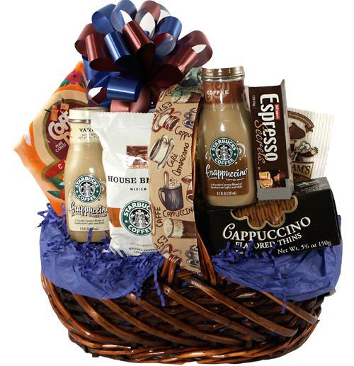 Coffee, hot chocolate and tea basket. cookies and mini mashmallows can also be added