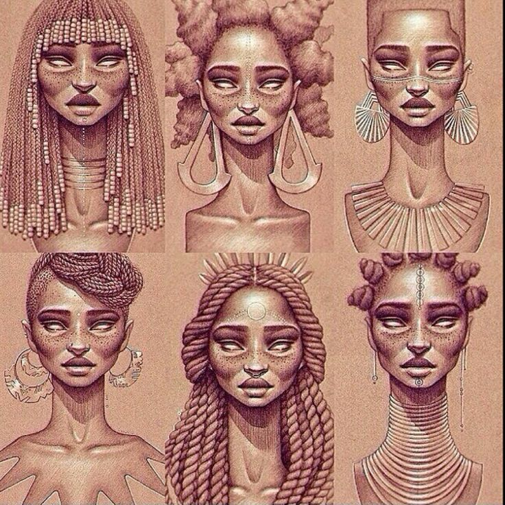 African Queens/ I really like this form of photography and pencil drawing.