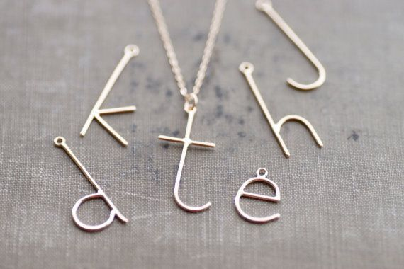 Monogram Letter Necklace by SDMarieJewelry