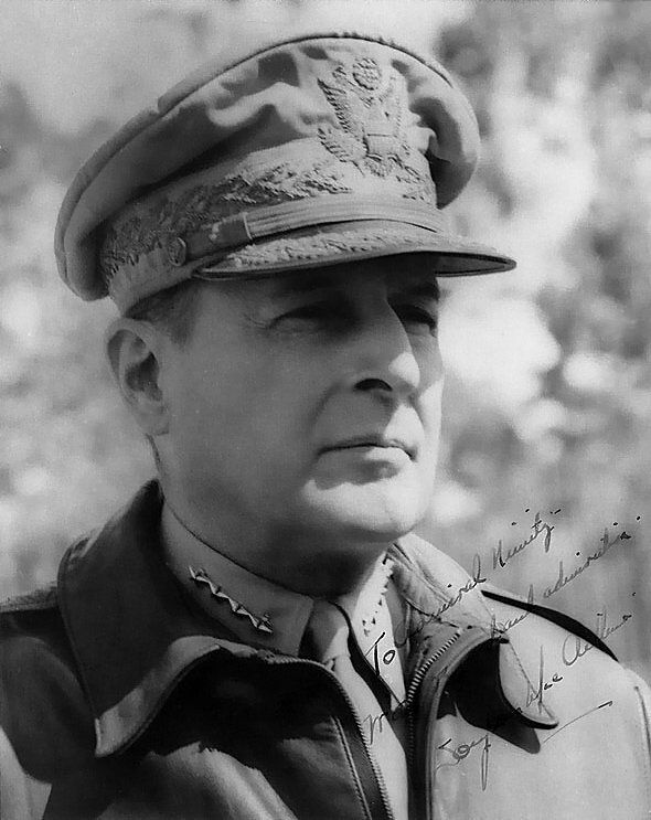 In 1964, Douglas MacArthur, famous American military man died. He participated in the First World War, World War II and Korea.