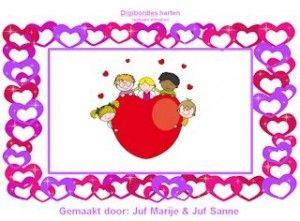 Digibordles reeksen, harten, moeder- en vaderdag, valentijnsdag.
