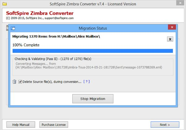 Download SoftSpire Zimbra Mail Converter last version