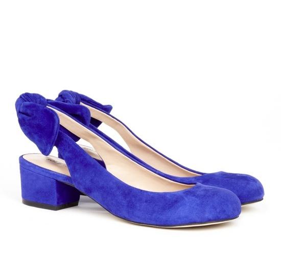 Blue Bow Shoes.