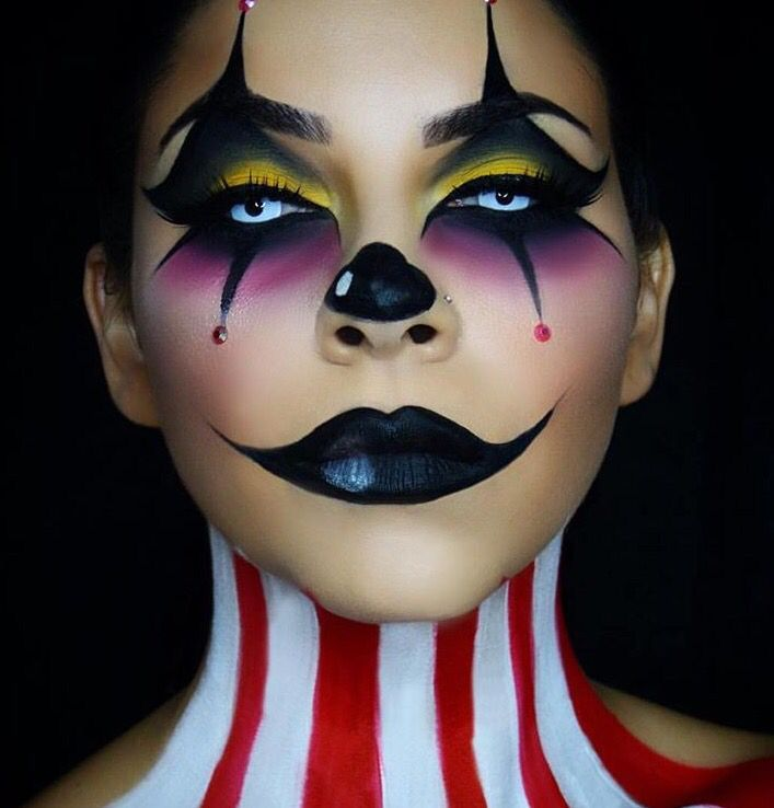 Image result for halloween jester makeup ideas