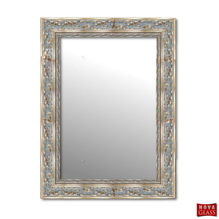 Καθρέπτης τοίχου με χρυσή σκαλιστή ξύλινη κορνίζα Νο 405Α