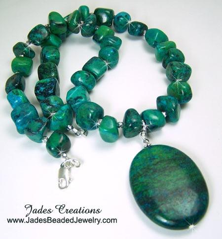 Turquoise Gemstone Beaded Necklace N316