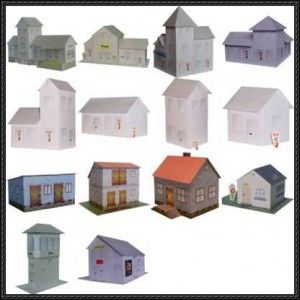 Paper House model downloads - potential glitter houses