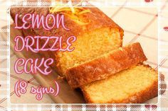 Ahhh Lemon Drizzle cake - theres nothing quite like a slice with a cuppa  tae. Or a whole cake for that matter! This particular recipe is only 8 syns  for the entire cake so listen, why not!  http://youtu.be/gp_7M9Hj0X4