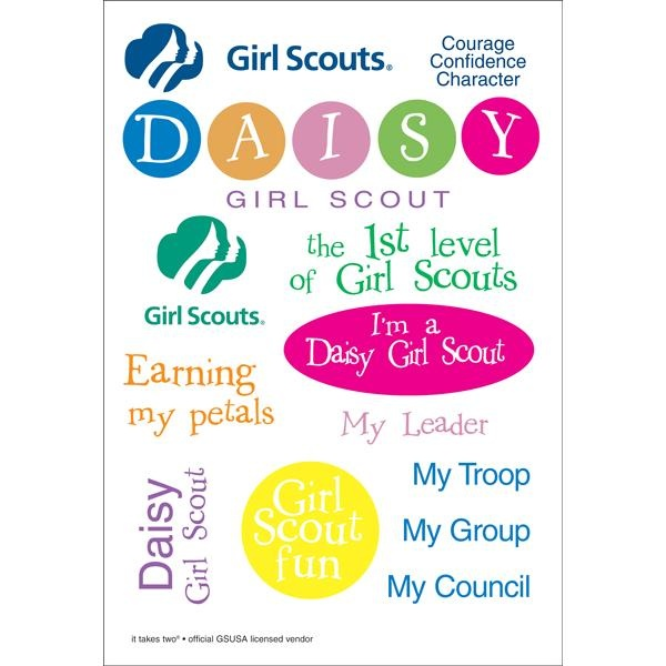 stk daisy   12 x 12 papers and stickers   girl scouts