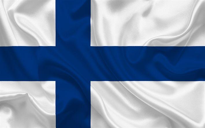 Descargar fondos de pantalla Bandera, Finlandia, Europa, la bandera de Finlandia, los pabellones Europeos