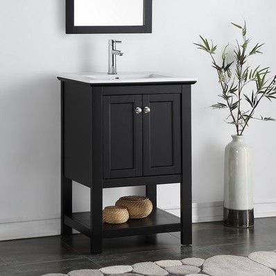 Fresca Manchester 24 Black Traditional Bathroom Vanity FCB2304BL I At DiscountBathroomVanities Discount