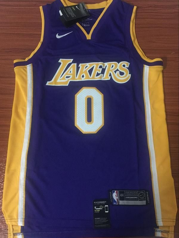 Men 0 Kyle Kuzma Jersey Purple Los Angeles Lakers Swingman Fanatics Jersey Los Angeles Lakers Los Angeles