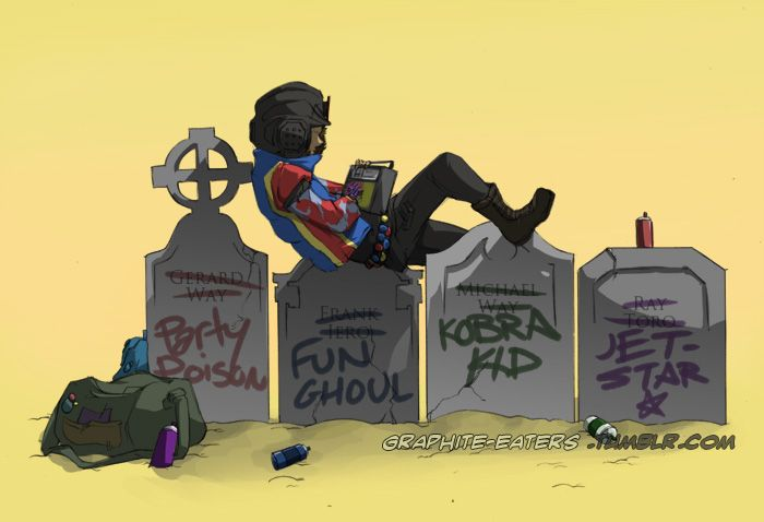 It doesn't matter the friends you've madeBut the graffiti they'll write on your grave. My chemical romance