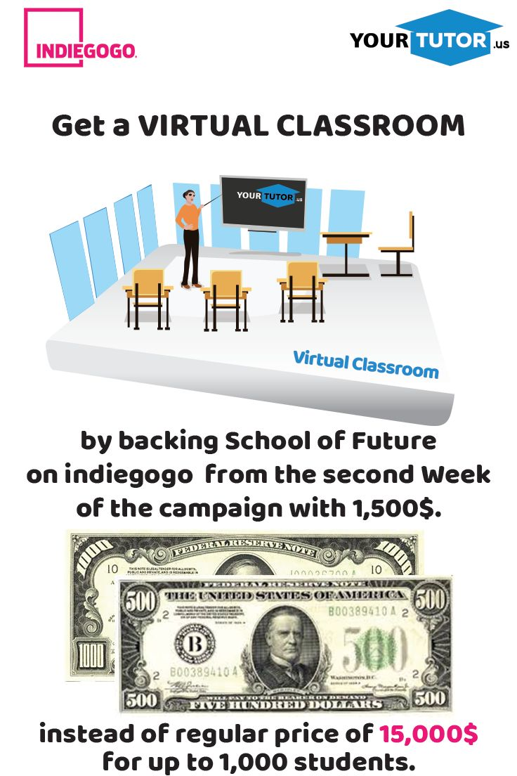Back us with 1,500$ and get a FREE VIRTUAL CLASSROOM for 2 years! #schooloffuture #virtualclassroom