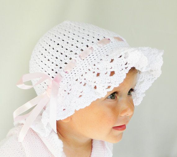 Crocheted summer children / baby hat in by Svetlanababyknitting