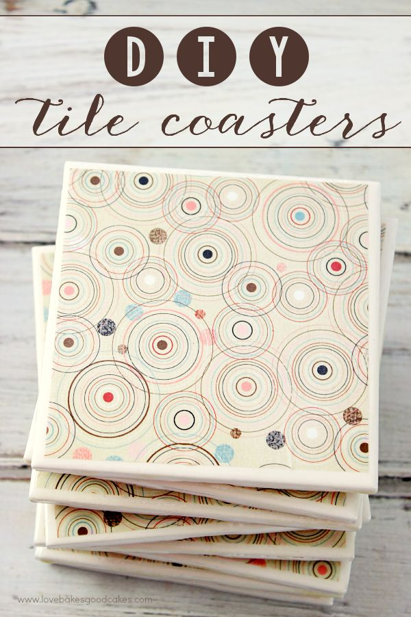 With just a few inexpensive materials, you can make these DIY Tile Coasters for yourself or to give as gifts! Easy craft to spruce up your home or gift idea!  #MeAndMyTea #ad