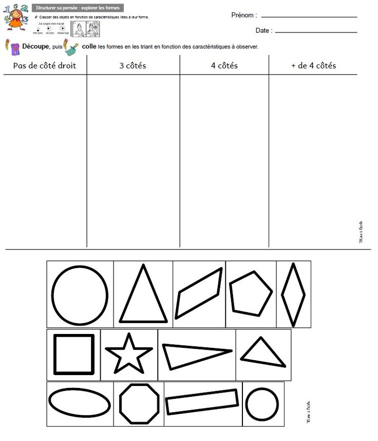 100 best formes images on Pinterest Kindergarten, Preschool and