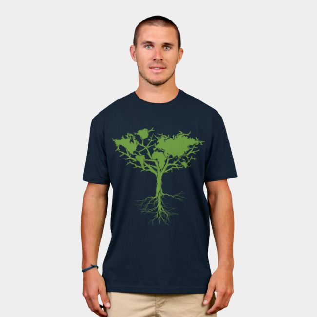 Earth Tree classic. #designbyhumans #earthtree #earth #tree #nature #awareness #eco #ecofashion #climatechange #environment #green #tshirt #tshirtdesign #apparel #menswear #womensfashion