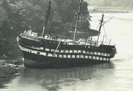 HMS Conway aground